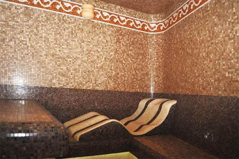 Турецкая баня (хамам) — влажность 95-100%, 40-50t°